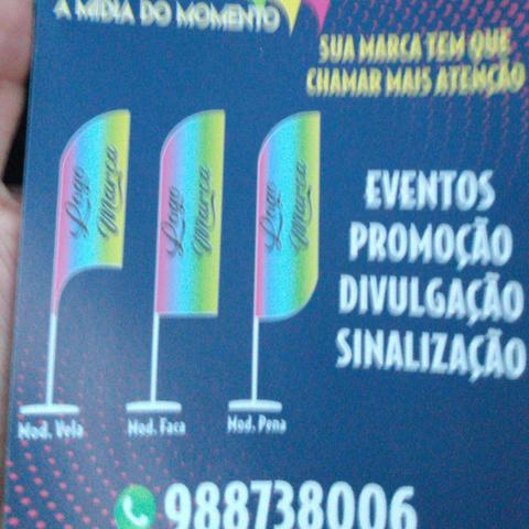 Banner,wind banner, flag banner 250 reais - Foto 4