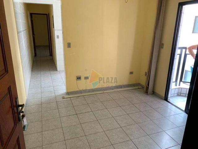 Apartamento com 1 dormitório à venda, 45 m² por r$ 160.000 - vila guilhermina - praia gran