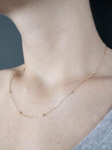 Gargantilha correntinha cordão de ouro