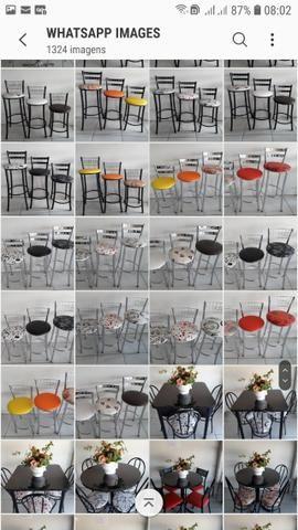 Banquetas mesas cadeiras bistros - Foto 5