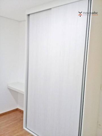 Apartamento com 3 dormitórios para alugar, 85 m² por R$ 2.500/mês - Jardim - Santo André/S - Foto 16