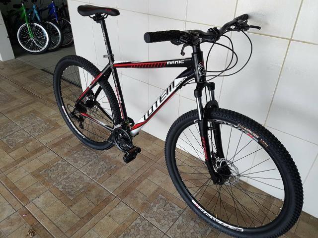 Bicicleta aro 29 freio a disco alumínio nova totem - Foto 2