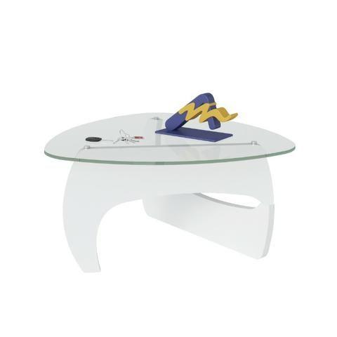 Mesa de centro com tampo em vidro 5mm Branco - Foto 2