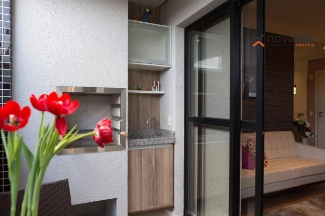 Apartamento com 2 dormitórios e varanda gourmet para alugar, 70 m² em condomínio completo  - Foto 6