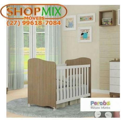 Frete Grátis* Quarto de Bebê Armário, Cômoda Tedy e Berço Uli- Tedy *NOVO - Foto 2