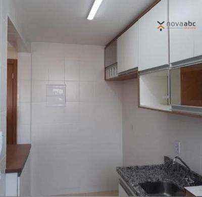 Apartamento com 2 dormitórios para alugar, 50 m² por R$ 1.000/mês - Utinga - Santo André/S - Foto 4