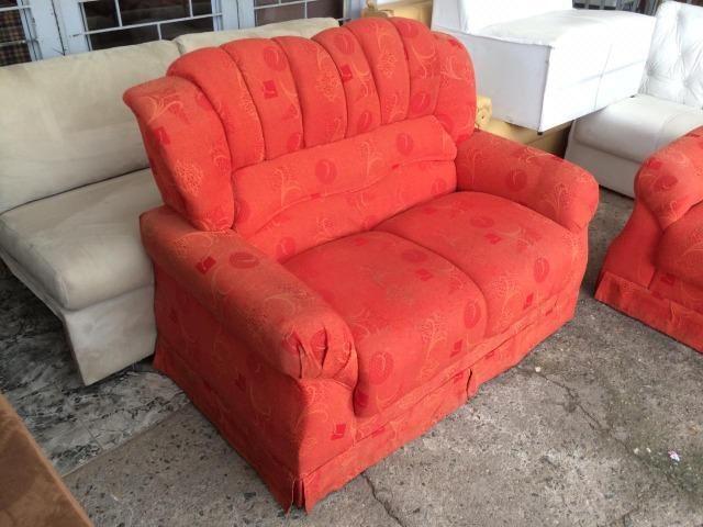 Jogo de sofá alaranjado - Entrego! - Foto 3