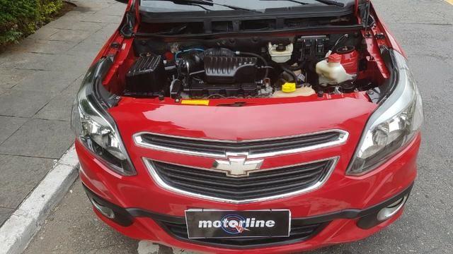 Chevrolet - Agile LTZ 1.4 Flex 2014 Vermelho Completo Super Novo Doc OK - Foto 8