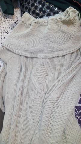 Sobrelegging Marfim em lã trabalhada