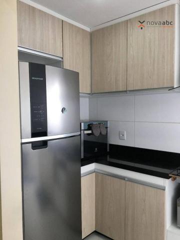 Apartamento com 2 dormitórios para alugar, 63 m² por R$ 2.100/mês - Campestre - Santo Andr - Foto 9
