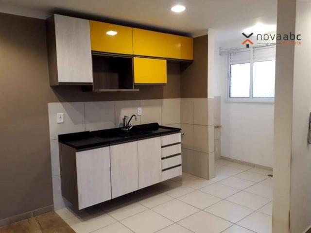 Apartamento com 2 dormitórios para alugar, 46 m² por R$ 900/mês - Vila João Ramalho - Sant - Foto 13