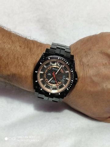 Relógio Bulova Masculino Precisionist Chrono Todo Preto S/s 98B143 Original