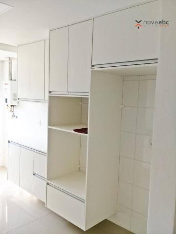 Apartamento com 3 dormitórios para alugar, 85 m² por R$ 2.500/mês - Jardim - Santo André/S - Foto 8
