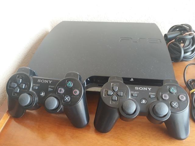 Playstation 3 Super Novo 2 Manetes Originais Sem Fio