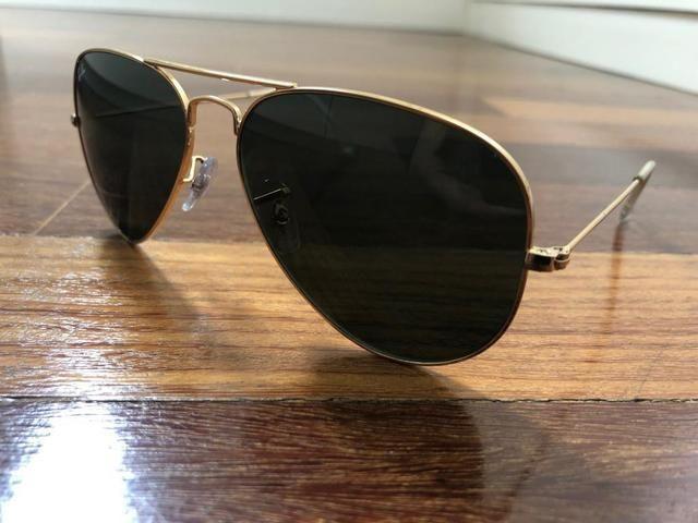 Óculos Ray Ban Aviator Clássico (Nunca usado) - Bijouterias ... 916adb7ddc