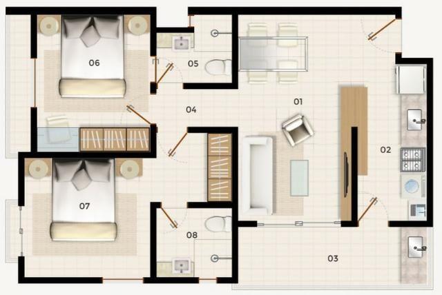 Cumbuco (CE) Novos Apartamentos Pronta Entrega - Mobiliados - Foto 5