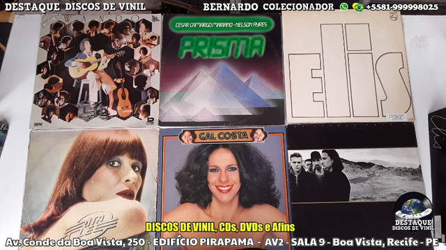 Discos de Vinil, Loja Físca Na Conde da Boa Vista, Recife - PE - Foto 6