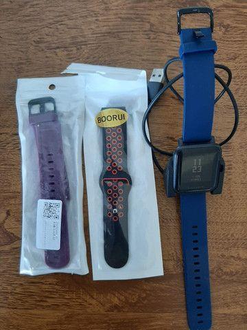 Amazfit Bip Lite usado + 2 pulseiras - perfeito estado