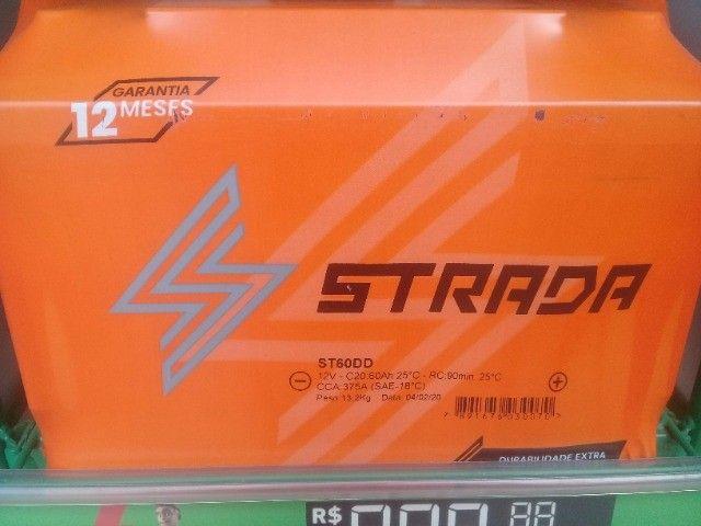 Bateria Automotiva Strada (Grupo Heliar) 50/60AH Selada, S/ Manutenção, Garantia 12 Meses - Foto 2