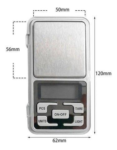 Mini Balança Digital De Bolso E Alta Precisão 0,1g Até 500g (Não Respondemos CHAT) - Foto 3