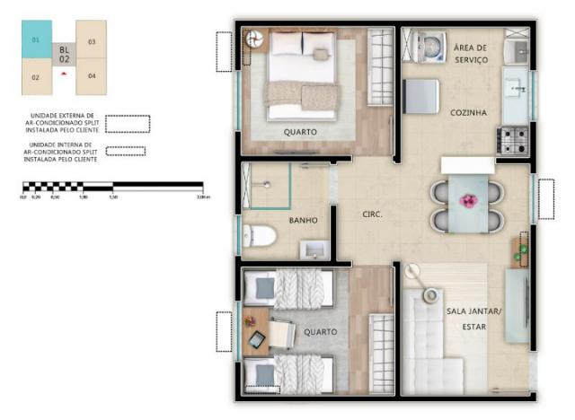 Apartamento à venda, Cond Alameda Real Aracaju SE                                          - Foto 9