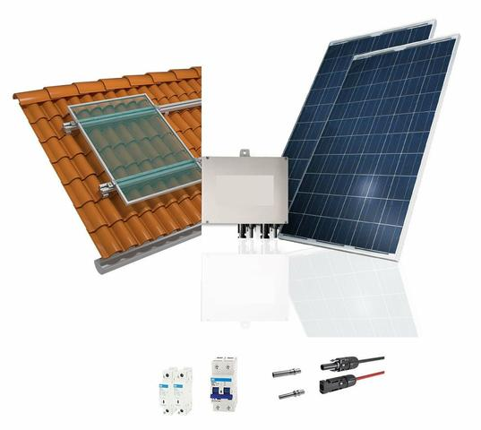 Kit completo de energia solar