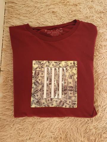 Camiseta fef vermelha tamanho g super estilosa no precinho