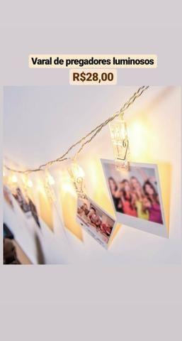 Garrafas térmicas,quadro decorativo,luminária de pregadores,carteira - Foto 5
