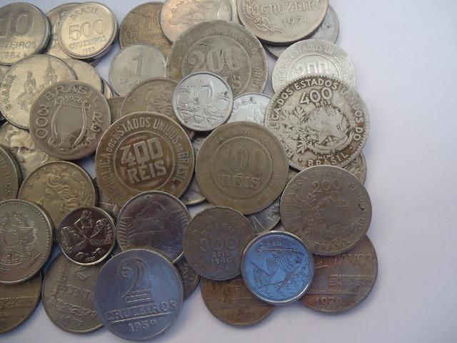 50 moedas antigas nacionais variadas colecionadores - Foto 3