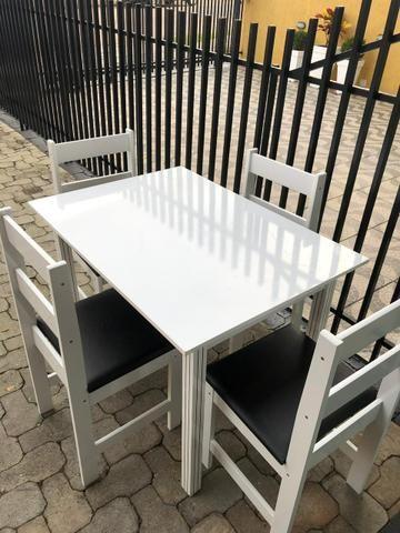 Mesa com 4 cadeiras em MDF - entregamos - Foto 2