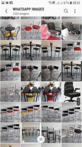 Banquetas mesas cadeiras bistros - Foto 3