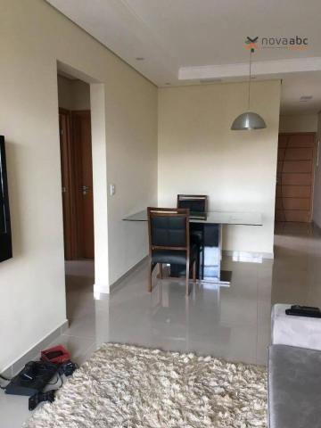 Apartamento com 2 dormitórios para alugar, 63 m² por R$ 2.100/mês - Campestre - Santo Andr - Foto 4