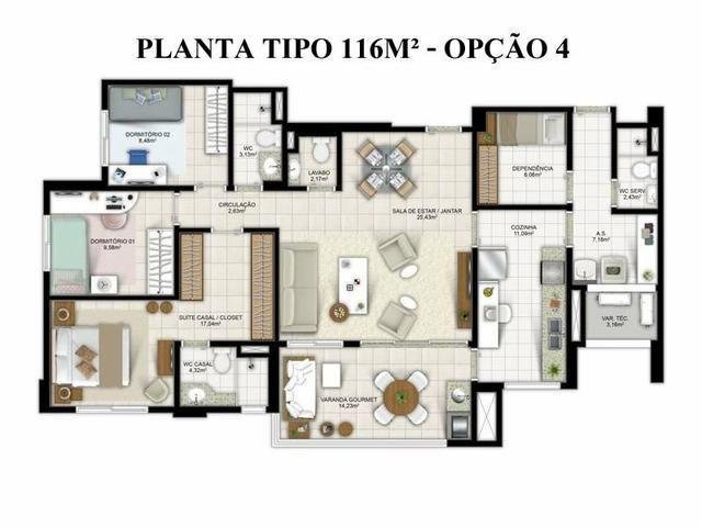 Apartamento 3/4 Greenville Taxas inclusas - Foto 17