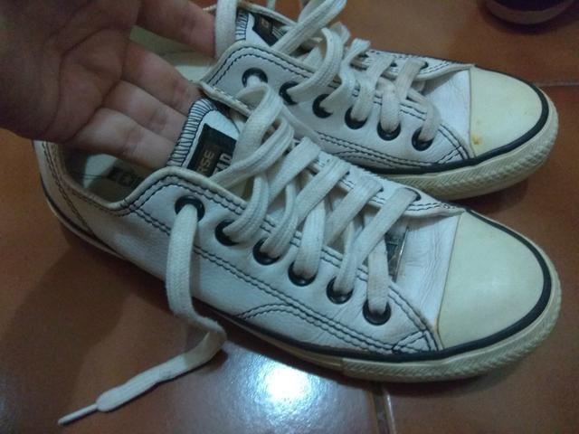 26694754f3c All star branco couro 35 - Roupas e calçados - Quintino Facci I ...