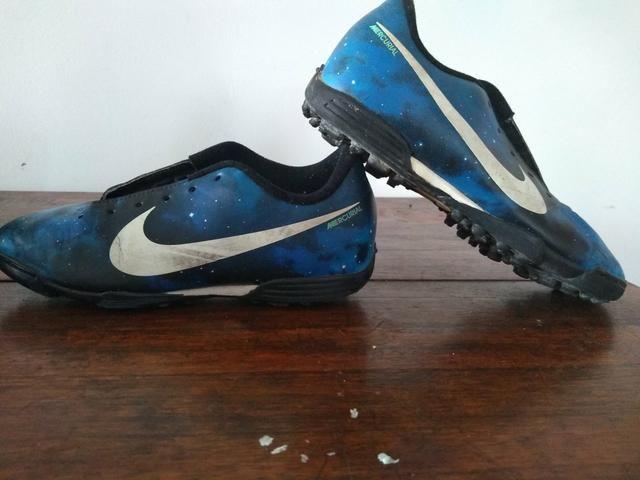 149ab4c074299 Barbada Chuteira Sintético 35 Nike Mercurial CR7 Ac Cartão ...