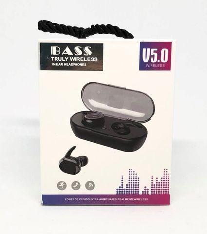 Fone de Ouvido Bluetooth Bass Truly Wireless Novo na Caixa