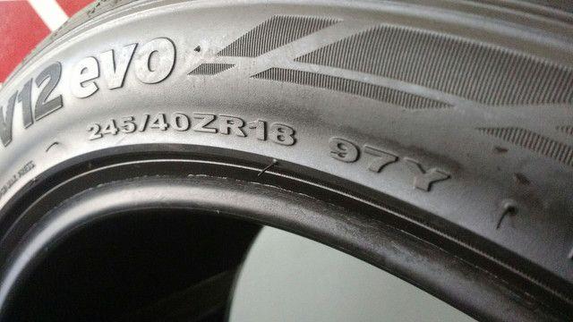 Pneu 245/40R18 97Y Hankook Ventus V12 Evo usado / meia-vida - Foto 4