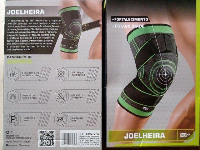 Joelheira Articulada Esportiva Corrida Musculação Reforçada - Foto 3