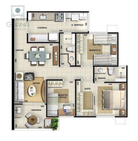 Apartamento com 3 quartos à venda, 80 m² por R$ 465.000 - Duque de Caxias II - Cuiabá/MT - Foto 3
