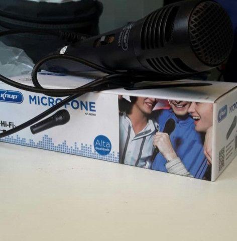 Microfone com Fio knup (entregamos) - Foto 3