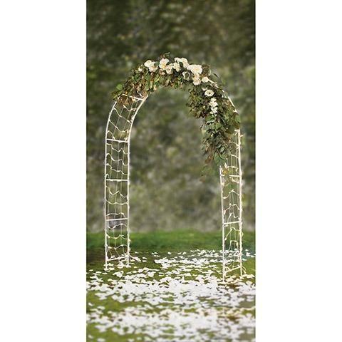 Arco Branco para Casamento com Luzes e 2.44 m de altura