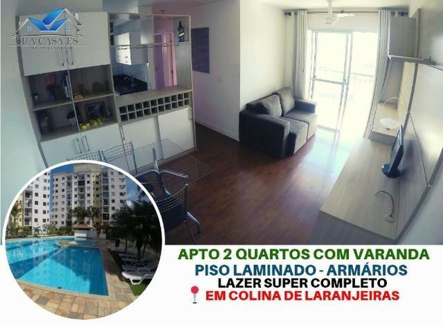 NE-Apartamento 2 Quartos - Colina de Laranjeiras - Elevador - Varanda - Lazer completo - Foto 3