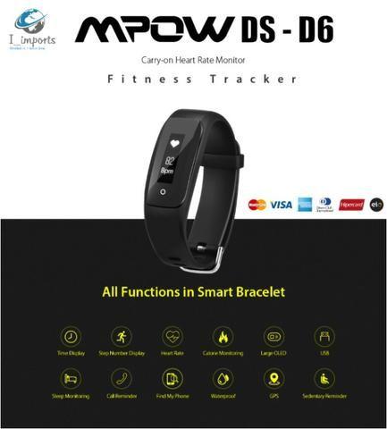 Smartband Mpow D6 Calorias Passos Km Promoção Preta