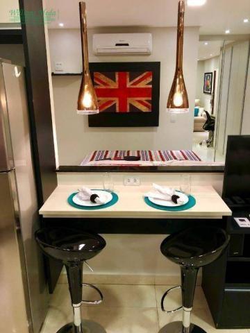 Studio com 1 dormitório para alugar, 36 m² por r$ 1.950/mês - vila augusta - guarulhos/sp - Foto 3