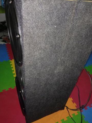 Vendo Sub Pioneer cara preta funcionando perfeitamente nunca recondicionado com box,250 $ - Foto 2