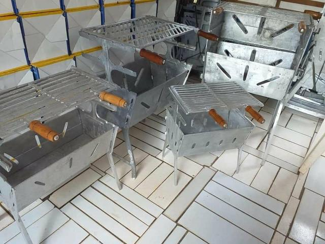 Churrasqueira de alumínio batido a partir de 120 - Foto 3