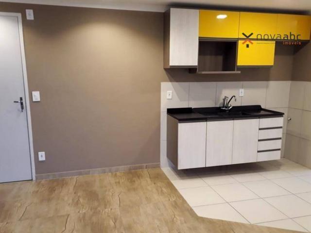 Apartamento com 2 dormitórios para alugar, 46 m² por R$ 900/mês - Vila João Ramalho - Sant - Foto 14