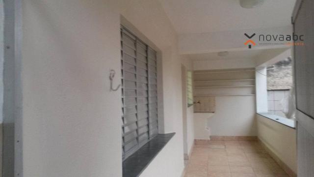 Apartamento com 1 dormitório para alugar, 58 m² por R$ 1.300/mês - Vila Floresta - Santo A - Foto 3