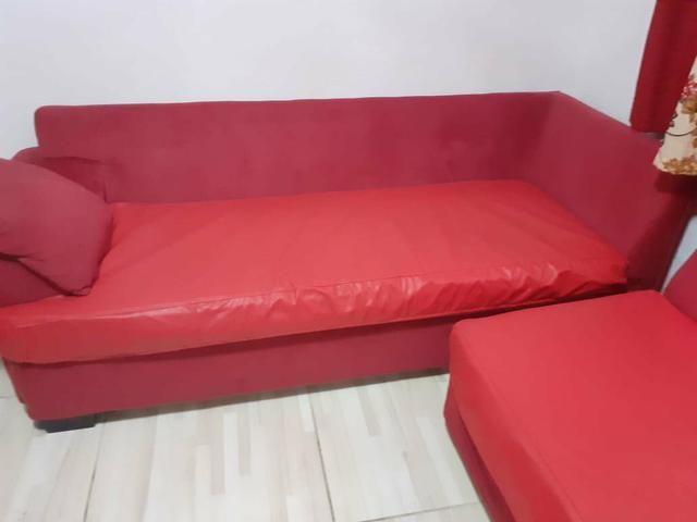 Sofá lateral separado vermelho