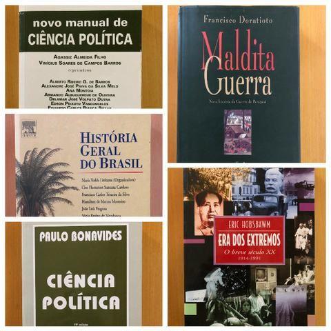Livros variados - História do Brasil e do Mundo